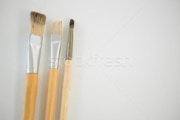 Paintbrushes arranged in a row Stock photo © wavebreak_media