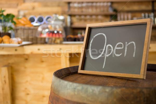 открытых кофейня экране связи мяса магазин Сток-фото © wavebreak_media