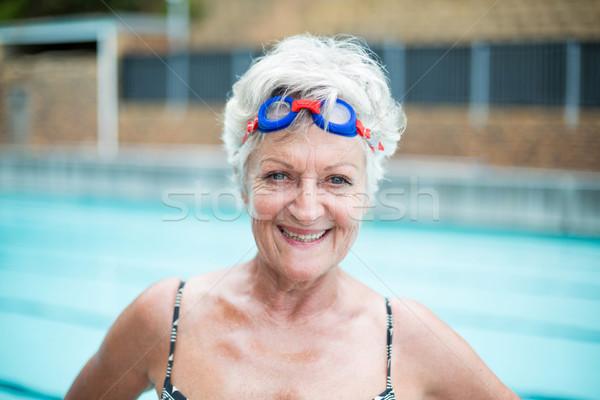 портрет старший пловец женщину воды Сток-фото © wavebreak_media