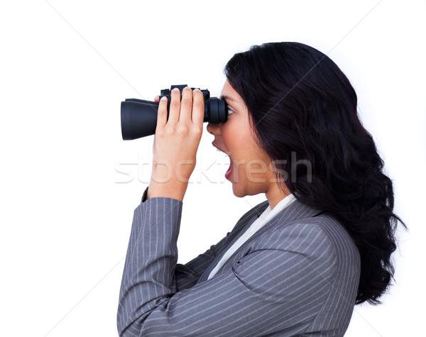 étonné femme d'affaires regarder avenir isolé blanche Photo stock © wavebreak_media