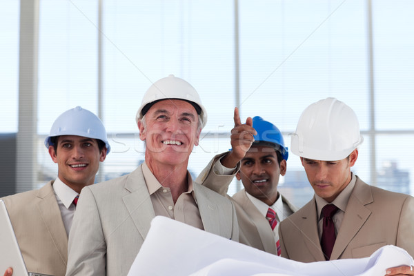 Groupe construction plan bâtiment affaires Photo stock © wavebreak_media