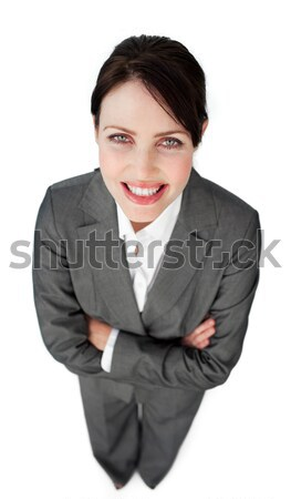 Portrait of a sparkling businesswoman with folded arms  Stock photo © wavebreak_media