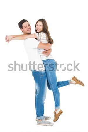 男 少女 友達 ピギーバック カップル 背景 ストックフォト © wavebreak_media