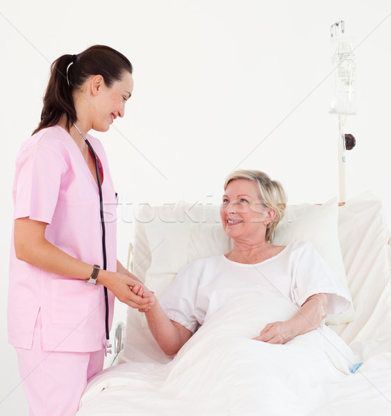 Fényes női orvos megvizsgál beteg kórház Stock fotó © wavebreak_media