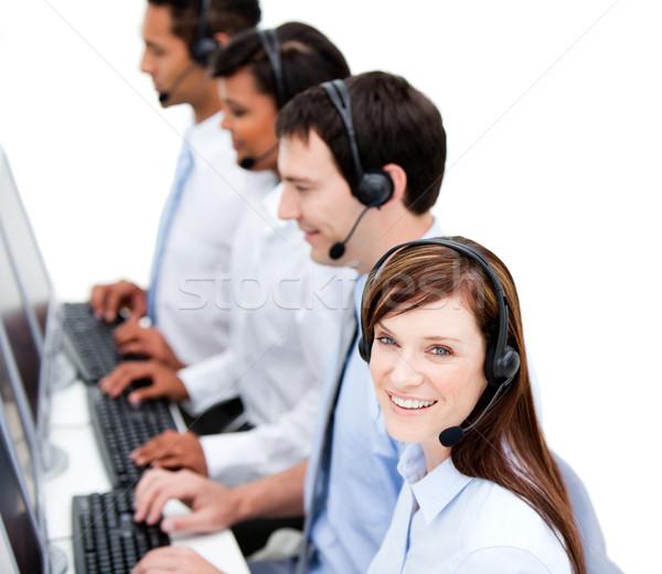 Zagęszczony zestawu zespół firmy biały komputera Zdjęcia stock © wavebreak_media