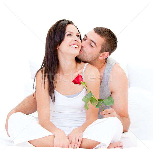 Pretty couple kissing each other  Stock photo © wavebreak_media