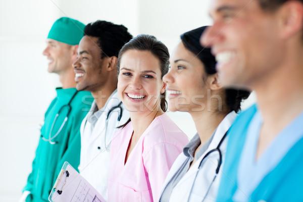International medical team standing in a line Stock photo © wavebreak_media
