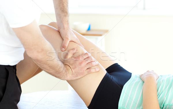 Close-up of a woman receiving a leg massage Stock photo © wavebreak_media