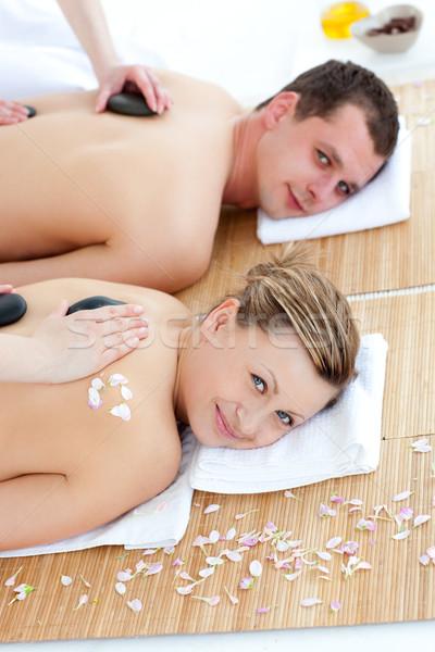Felice trattamento termale spa centro fiore Foto d'archivio © wavebreak_media