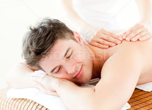 Entspannt junger Mann zurück Massage spa Zentrum Stock foto © wavebreak_media
