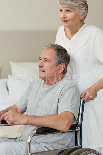 отставку человека коляске жена медицинской здоровья Сток-фото © wavebreak_media