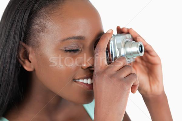 側面図 若い女性 画像 白 少女 ストックフォト © wavebreak_media