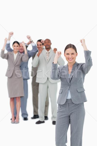 команда за белый улыбка Сток-фото © wavebreak_media