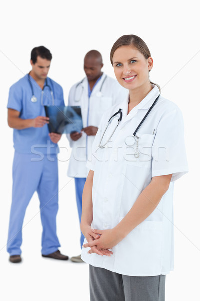 улыбаясь врач коллеги Xray за белый Сток-фото © wavebreak_media