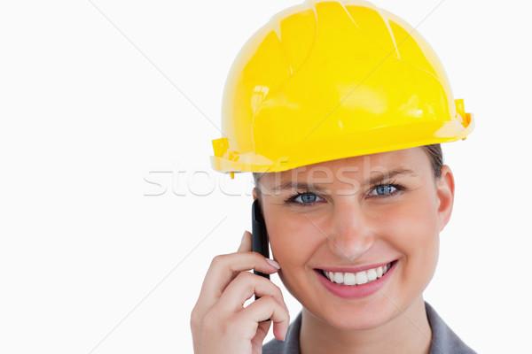 Uśmiechnięty kobiet architekta biały Zdjęcia stock © wavebreak_media