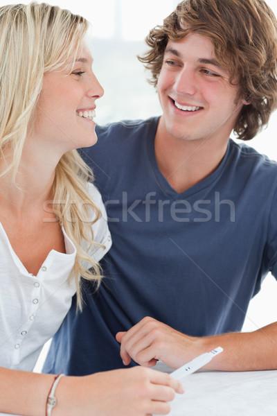 улыбаясь пару посмотреть один другой счастливым Сток-фото © wavebreak_media