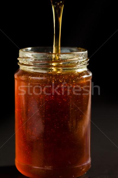 Mel jarra preto comida doce tigela Foto stock © wavebreak_media
