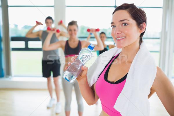 Donna break aerobica classe fitness Foto d'archivio © wavebreak_media