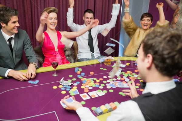 Personas sesión póquer juego casino Foto stock © wavebreak_media