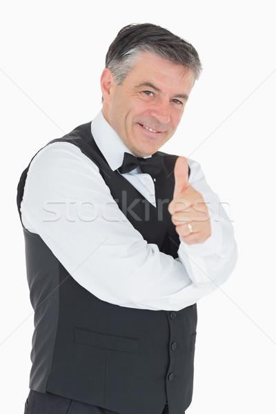 Zâmbitor om vesta fericit cămaşă Imagine de stoc © wavebreak_media