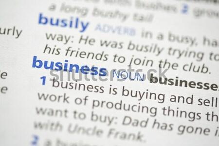 Definizione dizionario blu lettere studiare concetto Foto d'archivio © wavebreak_media