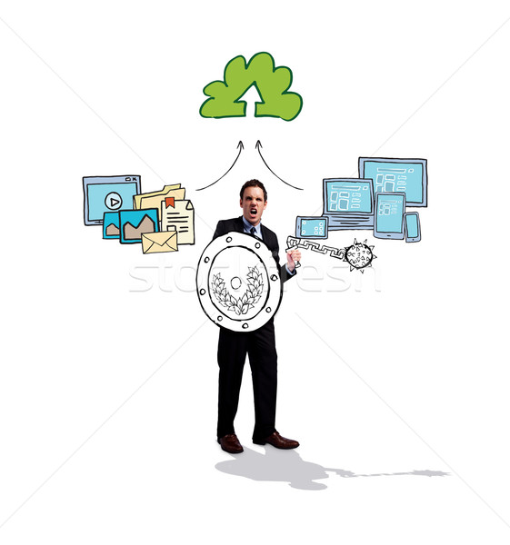 Afbeelding corporate krijger doodle Stockfoto © wavebreak_media