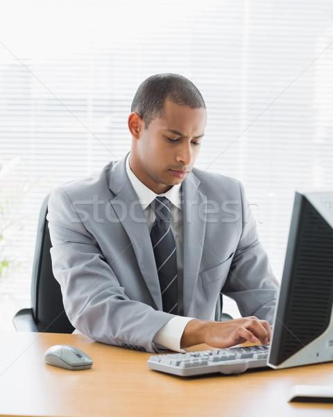концентрированный бизнесмен служба молодые Сток-фото © wavebreak_media