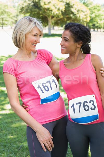 Women participating in breast cancer marathon Stock photo © wavebreak_media