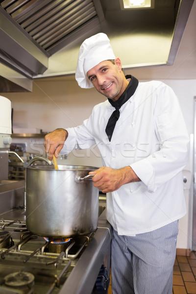 笑みを浮かべて 男性 シェフ キッチン 肖像 ストックフォト © wavebreak_media