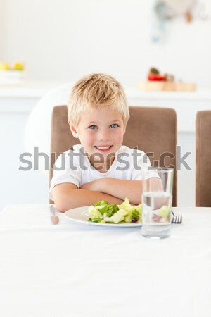 Erkek sağlıklı gıda hastane portre küçük Stok fotoğraf © wavebreak_media