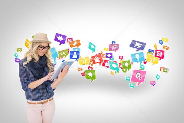élégant app icônes composite numérique Photo stock © wavebreak_media