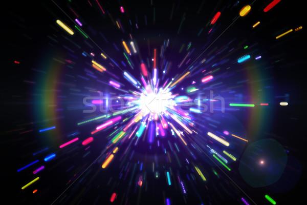 генерируется лазерного Cool цветы Сток-фото © wavebreak_media