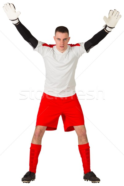 Kapus piros fehér kész zsákmány futball Stock fotó © wavebreak_media