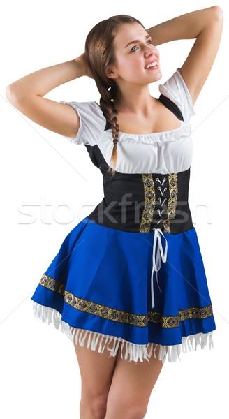 かなり オクトーバーフェスト 少女 笑みを浮かべて 白 幸せ ストックフォト © wavebreak_media
