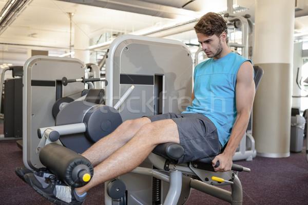 Gericht man gewichten machine benen gymnasium Stockfoto © wavebreak_media