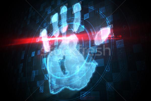 Digital security hand print scan Stock photo © wavebreak_media