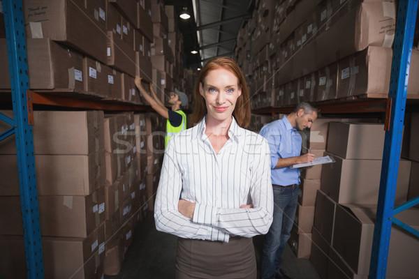 Halle Manager lächelnd Kamera groß Business Stock foto © wavebreak_media