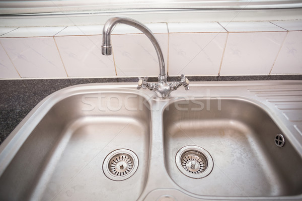 Brushed steel sink  Stock photo © wavebreak_media