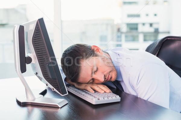 épuisé affaires dormir bureau bureau affaires Photo stock © wavebreak_media
