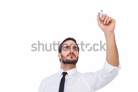 Gericht zakenman schrijven fiche witte man Stockfoto © wavebreak_media