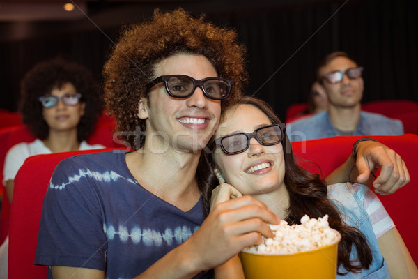 Young couple watching a 3d film Stock photo © wavebreak_media