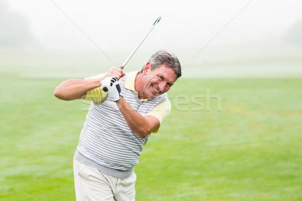Golfista club giorno campo da golf felice Foto d'archivio © wavebreak_media