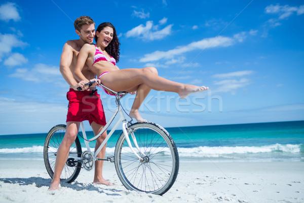 Happy couple going on a bike ride Stock photo © wavebreak_media