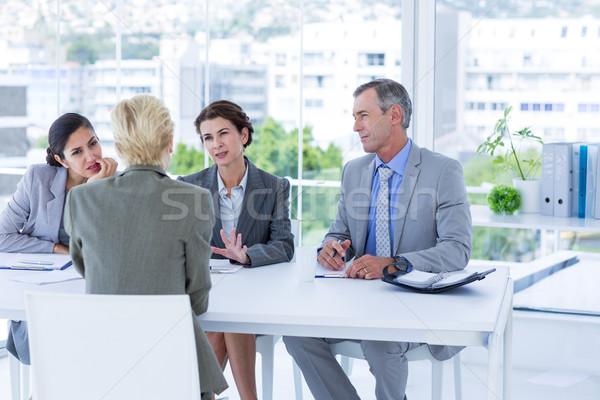 Interview panel listening to applicant Stock photo © wavebreak_media