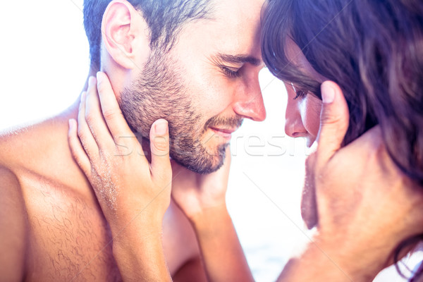 Heureux cute couple ensemble plage Photo stock © wavebreak_media
