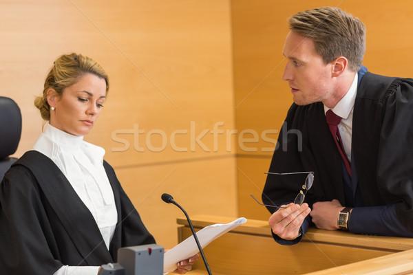 адвокат судья суд комнату женщину Сток-фото © wavebreak_media