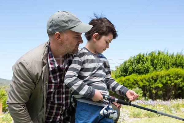 отцом сына рыбалки вместе весны мальчика Сток-фото © wavebreak_media