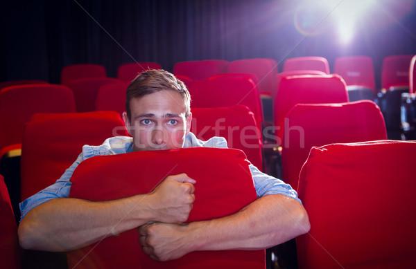 молодым человеком смотрят Scary фильма кино фильма Сток-фото © wavebreak_media