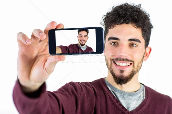 Lezser férfi elvesz lövés stúdió boldog Stock fotó © wavebreak_media