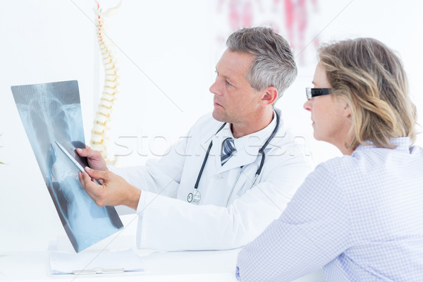 Stok fotoğraf: Doktor · xray · hasta · tıbbi · ofis